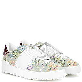VALENTINO - Open printed leather sneakers