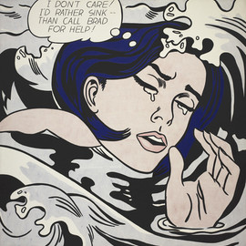 Roy Lichtenstein - Drowning Girl. 1963 @MoMA