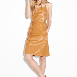 Tomas Maier - Tomas Maier Wrap-around Leather Dress