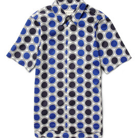 MARNI - Printed Short-Sleeved Cotton Shirt
