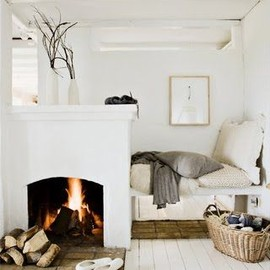 White and cozy.