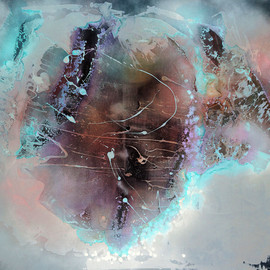 Fintan Whelan - Mystic hole, 2014, mixed media on canvas