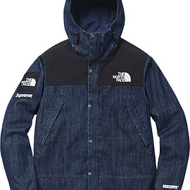 Supreme, THE NORTH FACE - Denim Dot Shot Jacket