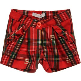 LAURA BIAGIOTTI DOLLS - Girls Red Tartan Shorts