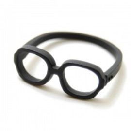 Lilou - MEGANE RING square #17 mat black