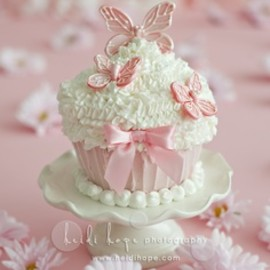 Pink Butterfly cupcake