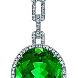 Tiffany & Co. - Green Tourmaline and Diamond Pendant