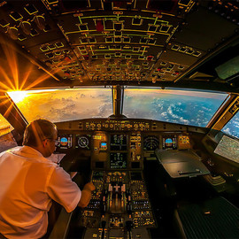 sunrise - sunrise in airplane cockpit