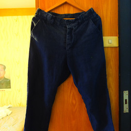 Porter Classic - PC. Linen Cropped Pants/Blue