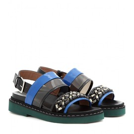 MARNI - Embellished patent leather sandals