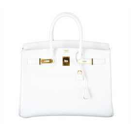 Hermes - BIRKIN BAG 35 WHITE with GOLD HARDWARE EPSOM MY FAVE