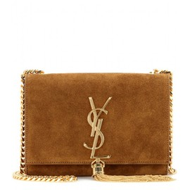 SAINT LAURENT - Classic Small Monogramme suede shoulder bag