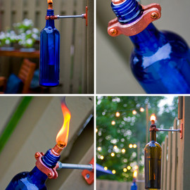 D.I.Y. - Recycled Wine Bottle Torch