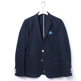 uniform experiment - COTTON STRETCH 2 BUTTON JACKET/navy