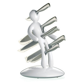 Voodoo - Knife Block Set White by Raffaele Iannello