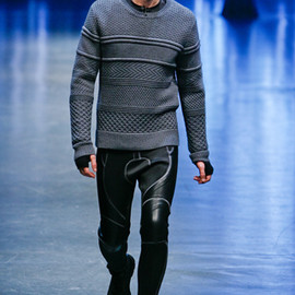Neil Barrett - MIXED KNIT JUMPER