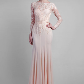 Gemy Maalouf - long sleeve lace gown