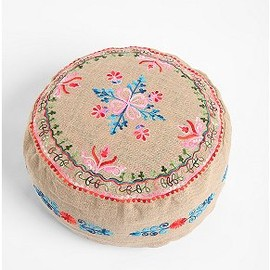 Fleur Embroidered  - Pouf
