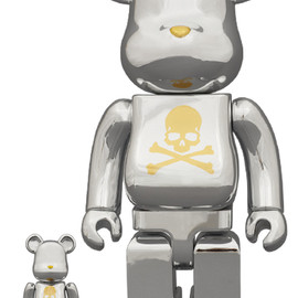 MEDICOM TOY - BE@RBRICK mastermind JAPAN CHROME SILVER 100% & 400%