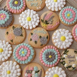 Thumb and Cakes - Flower icingcookie