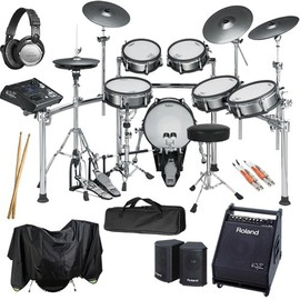 Roland - Roland TD-30KV V-Drums COMPLETE BUNDLE w/ Monitor Speaker & Hardware