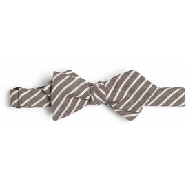 Alexander Olch - Striped Cotton-Chambray Bow Tie