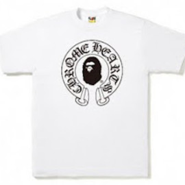 A BATHING APE - BAPE × Chrome Hearts TEE -horseshoe-