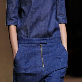 CELINE - Matching indigo denim