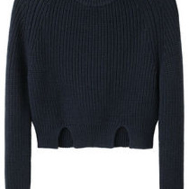 CARVEN - Cropped Rib Pullover