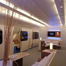 Marc Newson - A380 First Class Floor with 14 1st Class  mini-suites