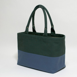 TEJIKA - Half Color Bag - GREEN/BLUE