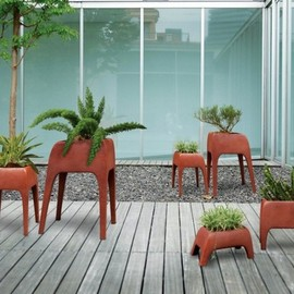 Kenneth Cobonpue - planters 1 Plants Can Get Tired Too: Safari Planters by Kenneth Cobonpue