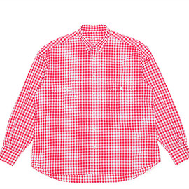 Porter Classic - Roll Up Gingham Shirt-Red