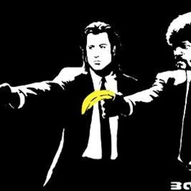 "BANKSY - BANKSY ART Poster PRINT ( Pulp Fiction) 11.7"" x 16.5""- 297mm x 420mm"