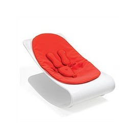 bloom - bloom White Coco Plexistyle Baby Lounger in Rock Red