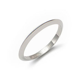 TIFFANY&Co. - Wedding ring knife edge
