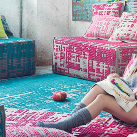 GAN RUGS - cross-stitched cushions and rugs