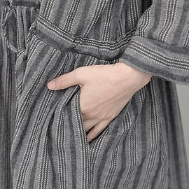 striped dress for women - striped dress for women, Linen Maxi dress, Cotton dress Gray, striped dress, White striped dress