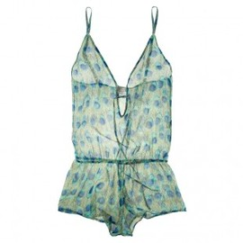Beautiful Bottoms - Peacock Drop Back Playsuit