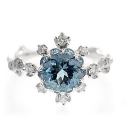 AbHeri - Aquamarine Diamond Ring 商品画像