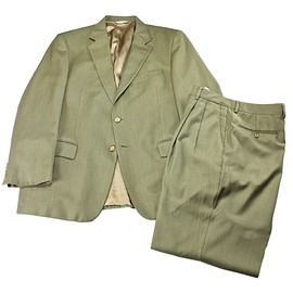 Loro Piana - Vintage Loro Piana Worsted Wool 2-Button Suit Mens Size Jacket 42R x Trousers W36