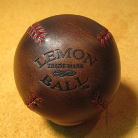 leather head sports - Leather LEMON BALL baseball.