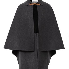 VALENTINO - FW2014 Layered wool and suede cape coat