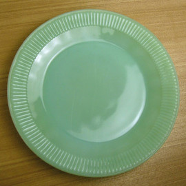 Fire King - Jadeite Jane Ray Dinner Plate
