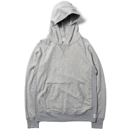 Reigning Champ - Reversible 'Ribbon' Pullover Hoodie - Heather Grey