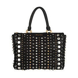 miu miu - Studded leather shoulder bag