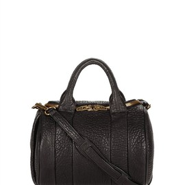 ALEXANDER WANG - Rockie In Black Pebble Lamb With Antique Brass Thumb