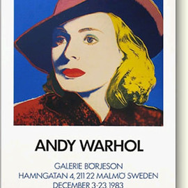Andy Warhol - Ingrid With Hat Galerie Borjeson Poster