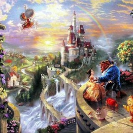 Thomas Kinkade - Beauty and the Beast