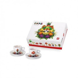 Illy - イリー アートコレクションILLY Art Collection (Expo 2015 Milano Mascot) Espresso 2 cup set - エスプレッソ2杯セット - 並行輸入品